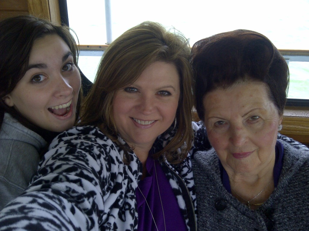 Three generations of Wagner women, as we call ourselves, on Flathead Lake, 2011 - one beehive, still going strong.