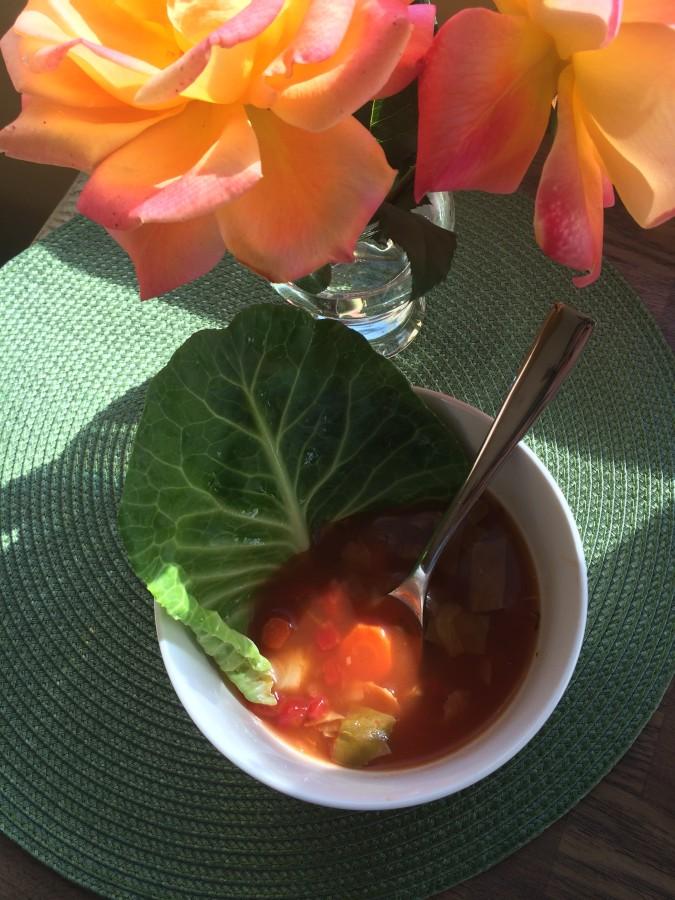 """A healthy """"skinny"""" soup served up on a sunny AZ day!"""